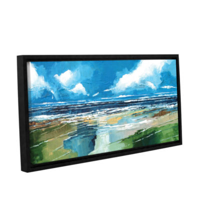 Brushstone Rectangular Sea View II Gallery WrappedFloater-Framed Canvas Wall Art