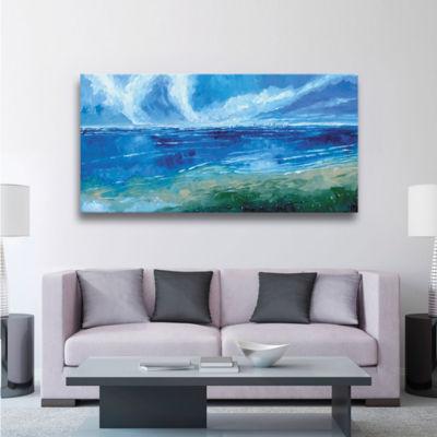Brushstone Rectangular Seascape I 3-pc. Gallery Wrapped Canvas Wall Art