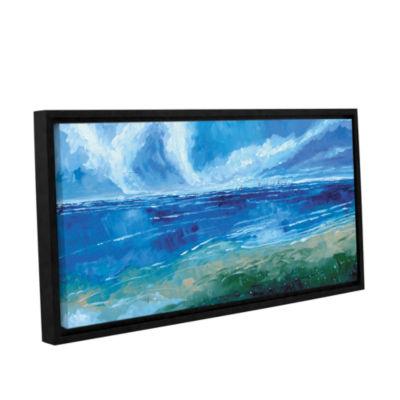Brushstone Rectangular Seascape I Gallery WrappedFloater-Framed Canvas Wall Art