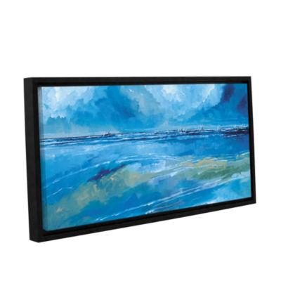 Brushstone Rectangular Seascape II Gallery WrappedFloater-Framed Canvas Wall Art