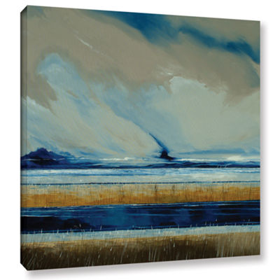 Brushstone Reeds And Sky I Gallery Wrapped CanvasWall Art