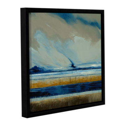 Brushstone Reeds And Sky I Gallery Wrapped Floater-Framed Canvas Wall Art