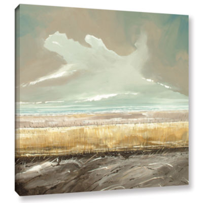 Brushstone Reeds And Sky II Gallery Wrapped CanvasWall Art