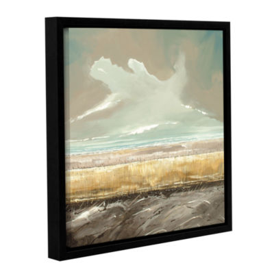 Brushstone Reeds And Sky II Gallery Wrapped Floater-Framed Canvas Wall Art