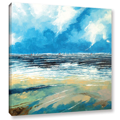 Brushstone Regatta 1 Gallery Wrapped Canvas Wall Art