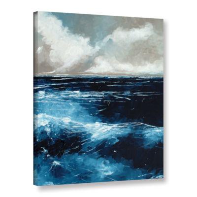 Brushstone Rolling Sea Gallery Wrapped Canvas WallArt