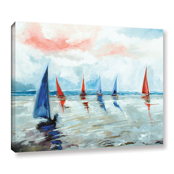 Brushstone Sailing Boats Regatta Gallery Wrapped Canvas Wall Art