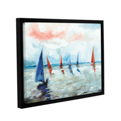Brushstone Sailing Boats Regatta Gallery Wrapped Floater-Framed Canvas Wall Art