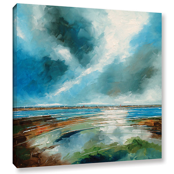Brushstone Salthouse View I Gallery Wrapped CanvasWall Art
