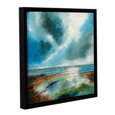 Brushstone Salthouse View I Gallery Wrapped Floater-Framed Canvas Wall Art