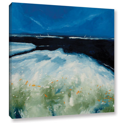 Brushstone Sea And Blue Sky III Gallery Wrapped Canvas Wall Art