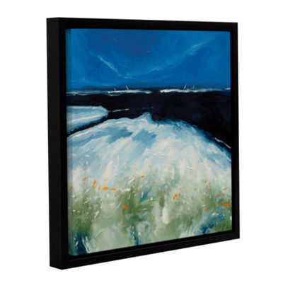 Brushstone Sea And Blue Sky III Gallery Wrapped Floater-Framed Canvas Wall Art