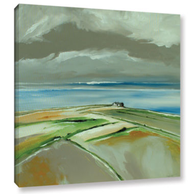 Brushstone Sea And Houses Gallery Wrapped Canvas Wall Art