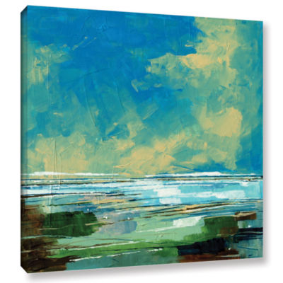 Brushstone Sea View II Gallery Wrapped Canvas WallArt