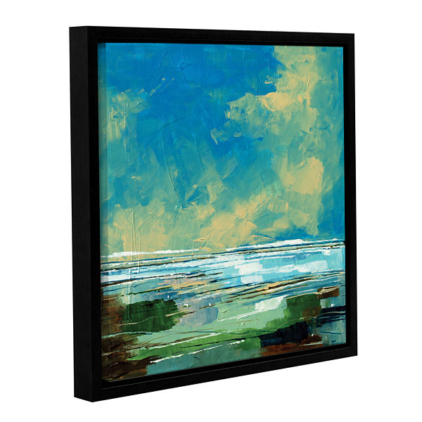 Brushstone Sea View II Gallery Wrapped Floater-Framed Canvas Wall Art
