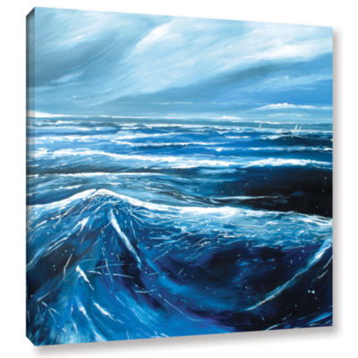 Brushstone Sea View III Gallery Wrapped Canvas Wall Art
