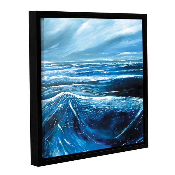 Brushstone Sea View III Gallery Wrapped Floater-Framed Canvas Wall Art