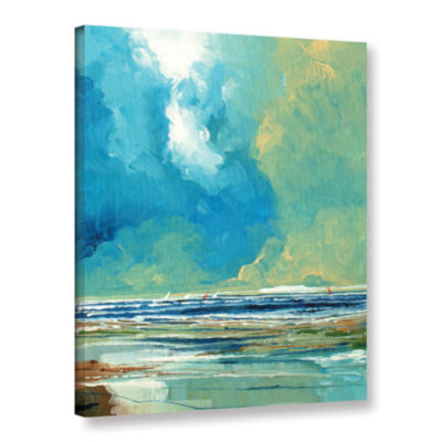 Brushstone Sea View On Boards I Gallery Wrapped Canvas Wall Art