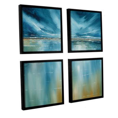 Brushstone Seascape 4-pc. Square Floater Framed Canvas Wall Art