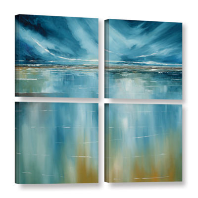 Brushstone Seascape 4-pc. Square Gallery Wrapped Canvas Wall Art