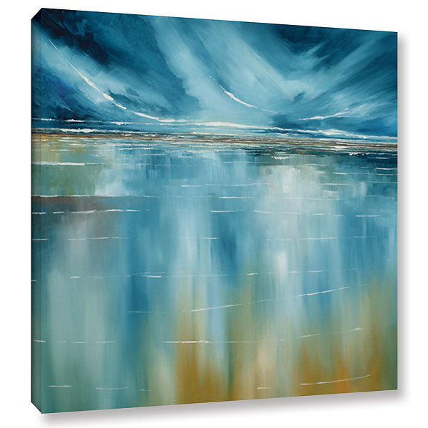Brushstone Seascape Gallery Wrapped Canvas Wall Art