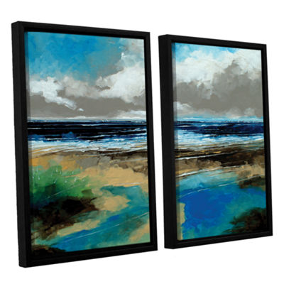 Brushstone Seascape I 2-pc. Floater Framed CanvasWall Art