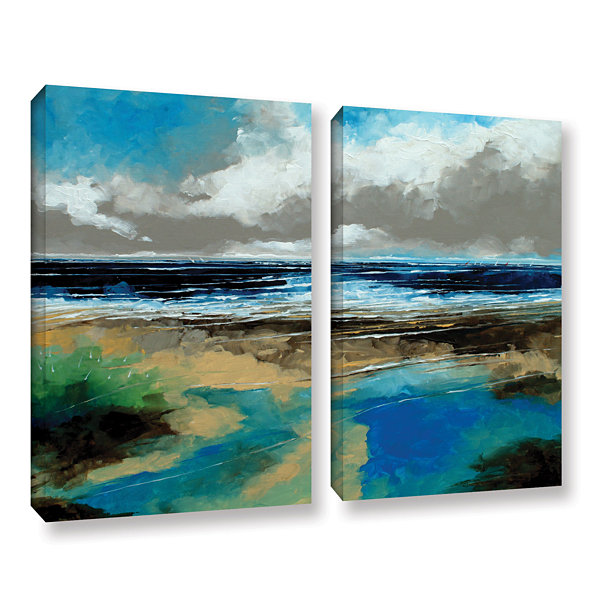 Brushstone Seascape I 2-pc. Gallery Wrapped CanvasWall Art