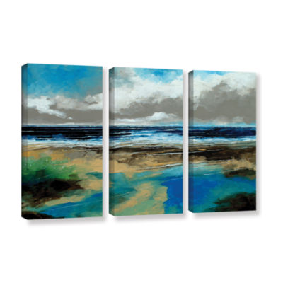 Brushstone Seascape I 3-pc. Gallery Wrapped CanvasWall Art