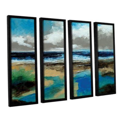 Brushstone Seascape I 4-pc. Floater Framed CanvasWall Art