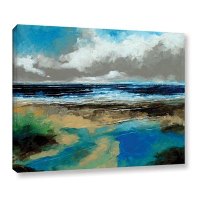 Brushstone Seascape I Gallery Wrapped Canvas WallArt