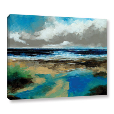 Brushstone Seascape I Gallery Wrapped Canvas WallArt