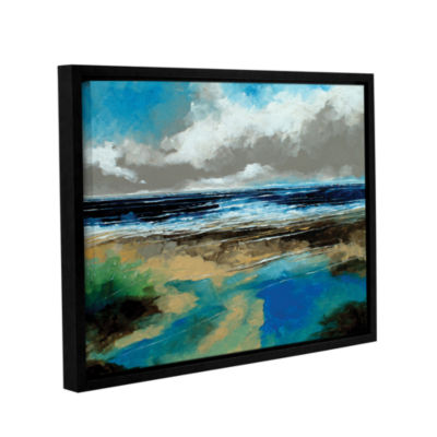 Brushstone Seascape I Gallery Wrapped Floater-Framed Canvas Wall Art
