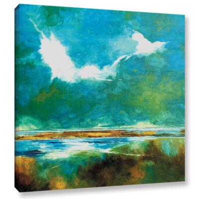 Brushstone Seascape II Gallery Wrapped Canvas WallArt