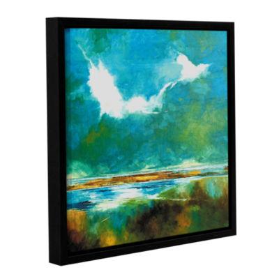 Brushstone Seascape II Gallery Wrapped Floater-Framed Canvas Wall Art