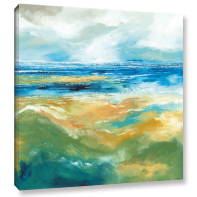 Brushstone Seascape III Gallery Wrapped Canvas Wall Art