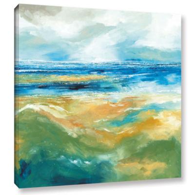 Brushstone Seascape III Gallery Wrapped Canvas Wall Art