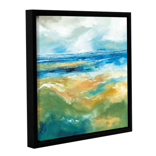 Brushstone Seascape III Gallery Wrapped Floater-Framed Canvas Wall Art