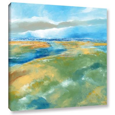 Brushstone Seascape IV Gallery Wrapped Canvas WallArt