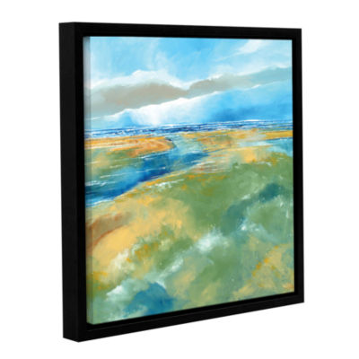 Brushstone Seascape IV Gallery Wrapped Floater-Framed Canvas Wall Art