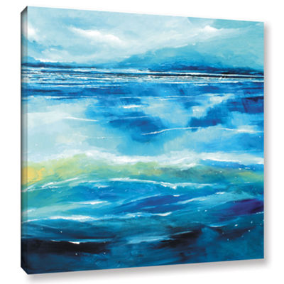 Brushstone Seascape V Gallery Wrapped Canvas WallArt