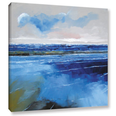 Brushstone Seascape XII Gallery Wrapped Canvas Wall Art