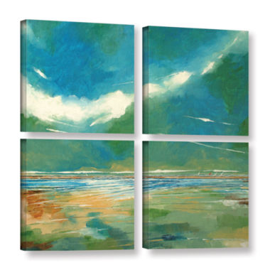 Brushstone Seaview I 4-pc. Square Gallery WrappedCanvas Wall Art