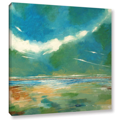Brushstone Seaview I Gallery Wrapped Canvas Wall Art