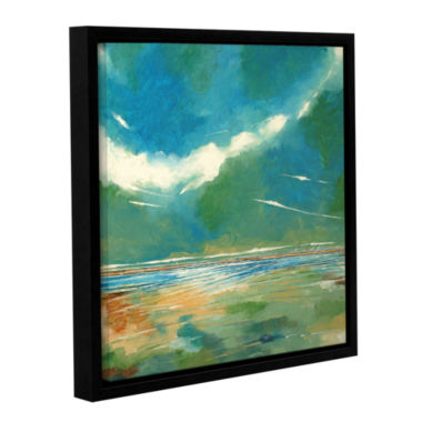 Brushstone Seaview I Gallery Wrapped Floater-Framed Canvas Wall Art