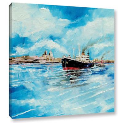 Brushstone Steamer III Gallery Wrapped Canvas WallArt