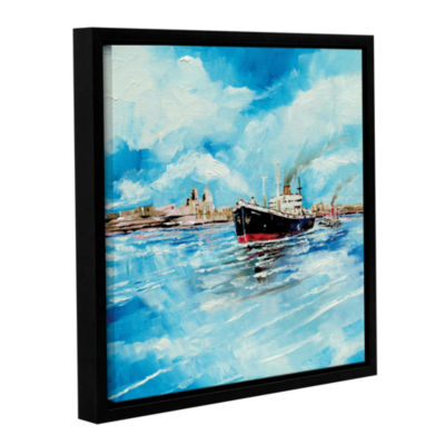 Brushstone Steamer III Gallery Wrapped Floater-Framed Canvas Wall Art