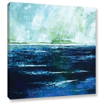 Brushstone Storm At Sea Gallery Wrapped Canvas Wall Art