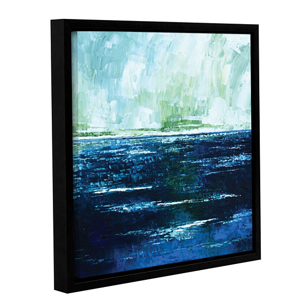 Brushstone Storm At Sea Gallery Wrapped Floater-Framed Canvas Wall Art