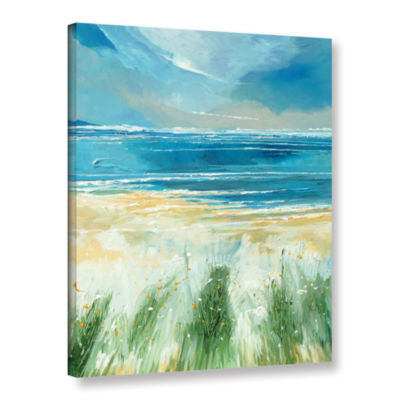 Brushstone Summer Sea And Beach Gallery Wrapped Canvas Wall Art