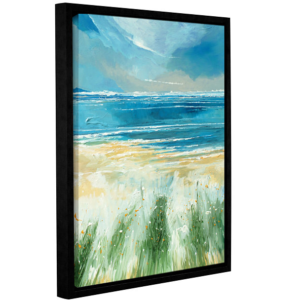 Brushstone Summer Sea And Beach Gallery Wrapped Floater-Framed Canvas Wall Art